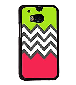 printtech Abstract Design zigzag Back Case Cover for Huawei Honor 7