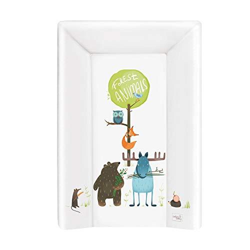 Wickelauflage Wickelunterlage Wickeltischauflage 2 Keil und Kopfteil feste 70x50 cm Abwaschbar für Mädchen und Junge - Animals 70x50 -