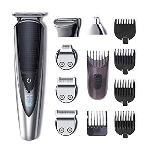 Hatteker regolabarba uomo tagliacapelli professionale barba e capelli impermeabile precisione regolabarba 5 in 1 barba, capelli e corpo naso