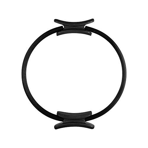 EmpireAthletics – Pilates-Ring mit Polstern und 38 cm Durchmesser für Pilates, Yoga , Ganzkörper-Training, Gymnastik uvm. – Core-Trainer Circle Kreis Magic-Circle in SCHWARZ