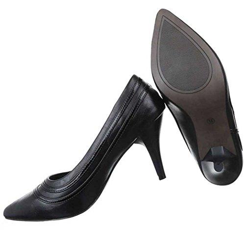 Damen Pumps Schuhe High Heels Stiletto Abendschuhe Club Party Schwarz 36 37 38 39 40 41 Schwarz