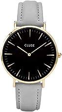 Cluse Damen Armbanduhr Analog Quarz Leder CL18411