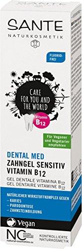 SANTE Naturkosmetik Dental med Zahngel Vit. B12* ohne Natriumfluorid, Schützt Zähne & Zahnfleisch, Vegan, Bio-Extrakte, 75ml - 2
