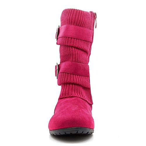 London Footwear ,  Damen Kurzschaft Schlupfstiefel Rose