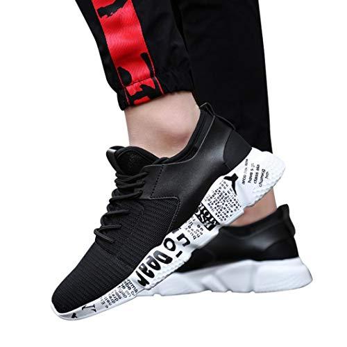 Unisex Laufschuhe Herren Damen Turnschuhe Sneaker Outdoor Mesh Schuhe Casual Lace Up Freizeitschuhe Bequeme Sportschuhe Atmungsaktive FlacheSchuhe,ABsoar
