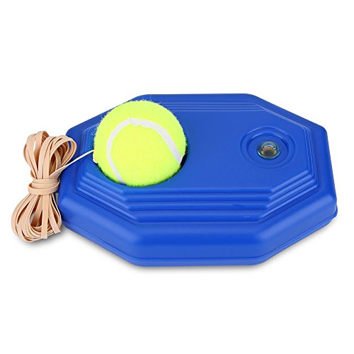 Asixx Tennis Trainer, Tennistrainer Powerbase aus Kunststoff mit Tennis Ball für Selbst Studie Übung Sparring Gerät,Blau