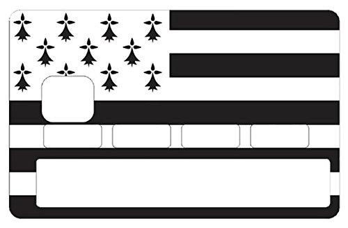 Sticker, autocollant decoratif, pour carte bancaire, Bretagne - autocollant de haute qualité, création & fabrication Française