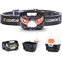 Frontal LED, ccbetter Linterna Frontales USB Recargable Impermeable para Tienda de Campaña Lectura Pesca Camping