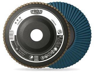 Tyrolit Basic-Disco lamellare 2in1per acciaio e acciaio inox, diametro 125mm, foro 22,23mm, 10pezzi, 719793