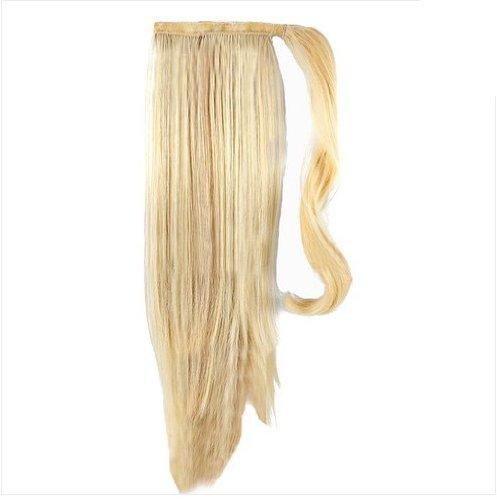 Pferdeschwanz Haarverlängerung - Echthaar-Extensions - 45 cm - Hellblond #60