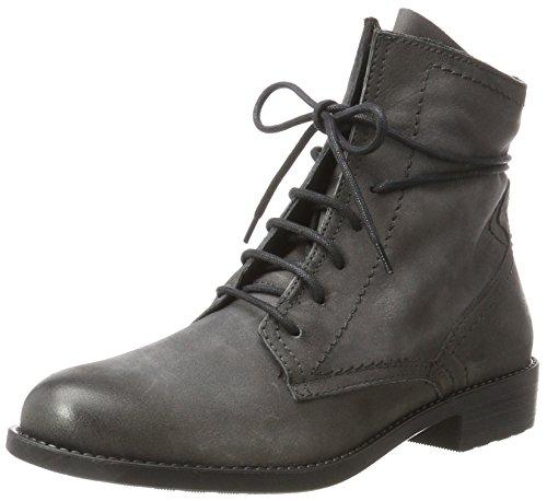 Tamaris Damen 25111 Chukka Boots, Grau (Anthracite), 40 EU (Leder Bootie Stiefelette)