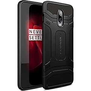 KAPAVER® Back Covere Case Compatible for OnePlus 6T / One Plus 6T Case Premium Tough Rugged Solid Black Shock Proof Slim Armor Back Cover Case
