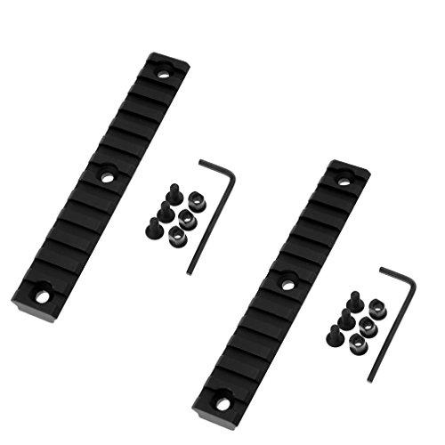 2 x 13 Slot Jagd Picatinny Weaverschiene Für Keymod Montage 135mm x 9mm x 20mm (Feste Licht Schiene)