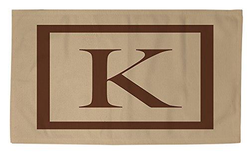 Manuelle holzverarbeiter & Weavers Dobby Bad Teppich, 4von druckknopfstiel, Monogramm Buchstabe K, caramel Classic Block (Navy Zeitgenössische Teppich)