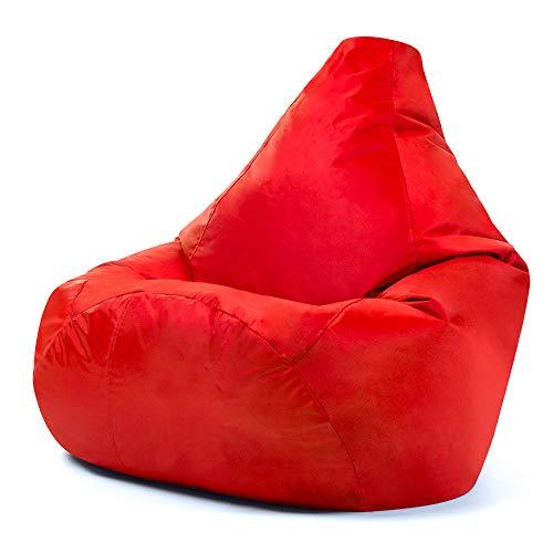 Hi-BagZ Sitzsack mit hoher Rückenlehne für den Außenbereich, Gartenstuhl, rot, 100% wasserdicht