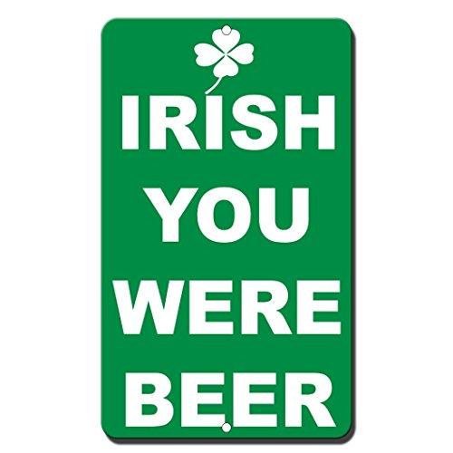 OneMtoss Bier Irland-Man Design aus Metall, 8x 12Aluminium-Schilder -
