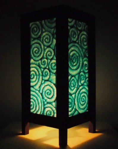 rare-asie-thai-lampe-de-tables-bouddha-style-chevet-bleu-spirale-par-thailande