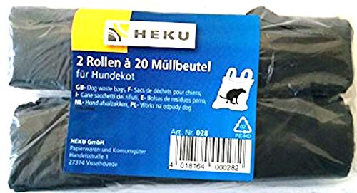 HEKU 0028 Müllbeutel Hundekotbeutel 2 Rollen á 20 Beutel