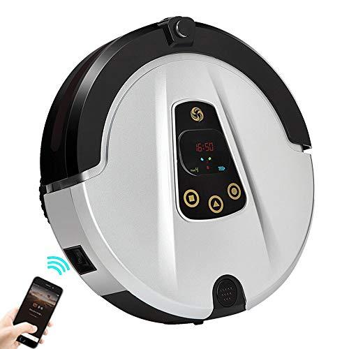 JAYLONG Aspirapolvere Robot con Telecamera HD, 180 ML Serbatoio dell\'Acqua, Robot di Pulizia Automatica con Controllo App, Auto-Ricarica, rendendo Piano di Pulizia, Super Sottile