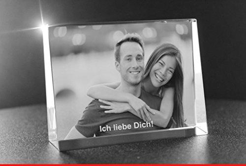 VIP-LASER 2D GRAVUR Glas Kristall Flachglas selbststehend Querformat mit Deinem Partner oder Liebesfoto. Dein Wunschfoto für die Ewigkeit mitten in Glas!...