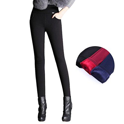 YiLianDa Legging Pantalon Collant Velours Fleece Thermique Hiver Chaud Elastique comme image(2)
