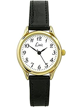 Limit Classic Ladies White Dial Black Strap Dress Watch 6141