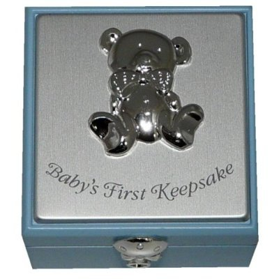 Beautiful Baby Boy's Small Wooden Keepsake Box Christening Gift by Shudehill