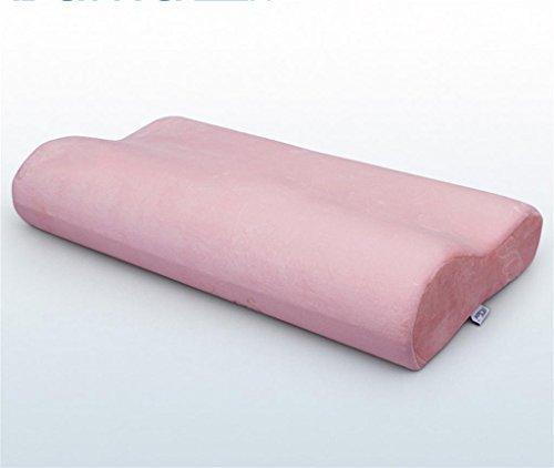 lichunyan helfen Sleep Cervical Kissen Gesundheit Kopfkissen Erweiterte Version von Null Druck Slow Rebound Platz Memory Kissen, 100 % Polyester, rose, 63*34*12/9cm Curl Power Spray Foam