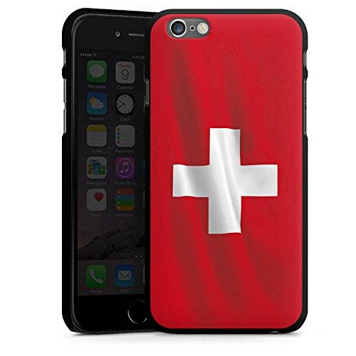 Apple iPhone 5s Housse Étui Protection Coque Suisse Suisse Drapeau CasDur noir