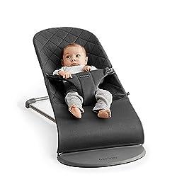 BabyBjörn 006021 Babywippe Bliss Anthrazitgrau, Cotton, grau