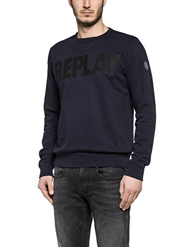 Replay -  Felpa  - Uomo blu Blue M