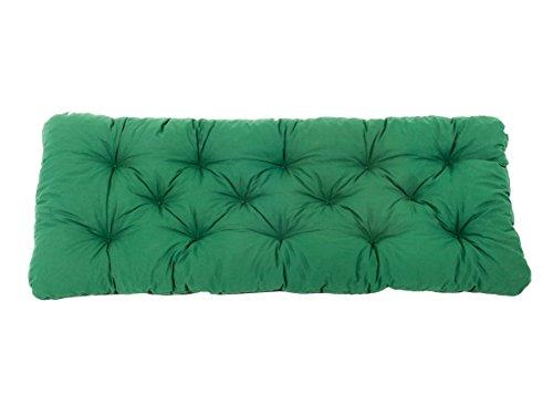 Ambientehome 90363 - 2er banco banco banco de cojín amortiguador verde 120 cm gartenbank
