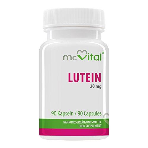 Lutein 20 mg - aus Tagetesextrakt - Antioxidant - schützt Sehkraft - 90 Kapseln