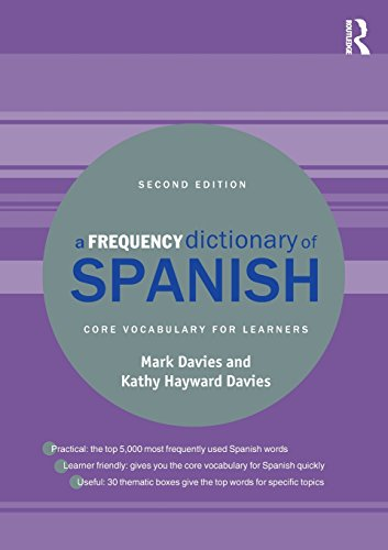 A Frequency Dictionary of Spanish: Core Vocabulary for Learners (Routledge Frequency Dictionaries) por Mark Davies