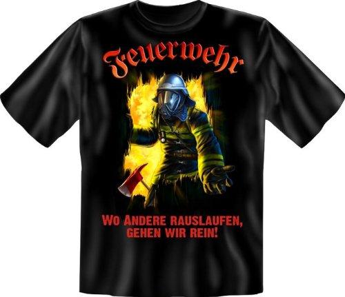 Feuerwehr-erwachsenen T-shirt (Feuerwehr wo andere rauslaufen - T-Shirt - Textilien L)