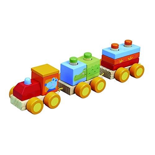 IMAGIN Jouet éveil - Mon Premier Train - Formes à empiler