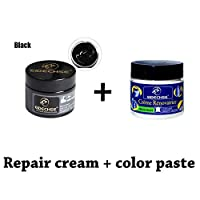 Leather Repair Cream + Complementary color,Natural Restorer Leather Vinyl Repair Kit Suitable for All Smooth and Semi-Aniline Leather auto Sofas, Shoes, Bags, Car Seats, Saddlery etc.