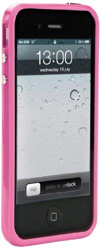 Muvit Bumper in Silicone e Pellicola Proteggi Schermo per iPhone 5/5S/5SE, Rosa