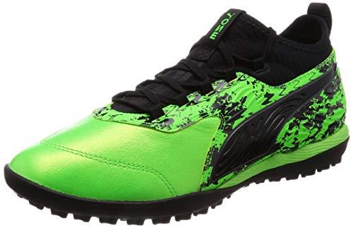 Puma Herren ONE 19.3 TT Fußballschuhe, Grün (Green Gecko Black-Charcoal Gray), 44.5 EU