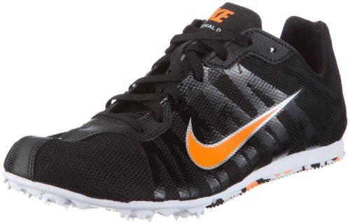 Nike Zoom Rival D V Running Spike 414533-001 Herren Sportschuhe - Running, Schwarz/black/total orange-white, 47.5 Orange Herren Track Spikes