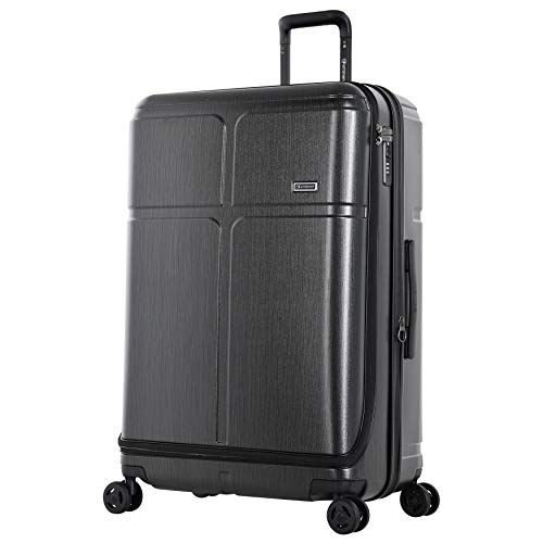 Eminent Koffer Load 79 cm 125 L Erweiterbar sichere Reißverschlüsse 4 leise Doppelrollen Graphit