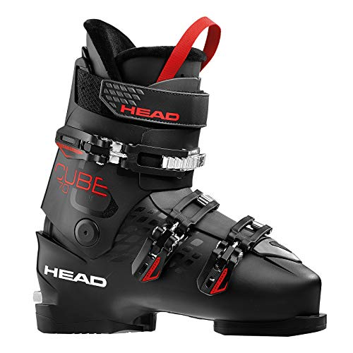 HEAD Herren Cube 3 70 Skischuhe, Black/Anthracite/Red, 285