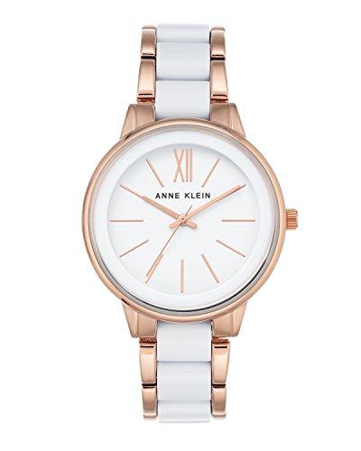 Anne Klein Damen Analog Quarzwerk Uhr mit Edelstahl Armband AK/N1412WTRG