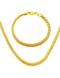 hombres y mujeres de la cadena de la serpiente de la joyería 18k de oro de Corea del Sur collar plateado brazalete de joyería nb60042