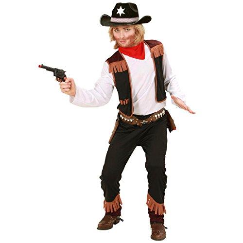 Kinder Sheriff Kostüm Cowboykostüm 140 cm Cowboy Kinderkostüm Ranger Gesetzeshüter Indianerparty Jungenkostüm Fasching Wilder Westen Faschingskostüm Sheriffkostüm Western Mottoparty Verkleidung Karneval Kostüme für Jungen