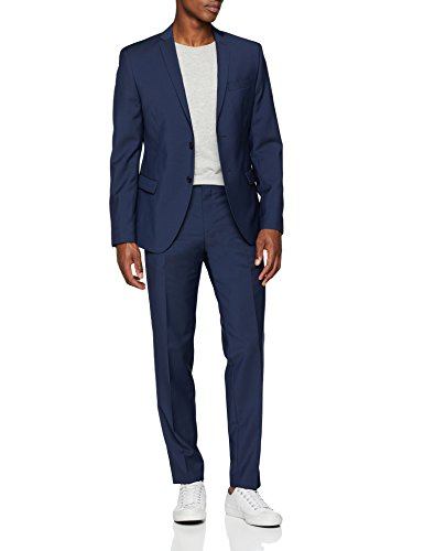 s.Oliver BLACK LABEL Herren Anzug 23.806.84.4381, Blau (Blue 5876), 56