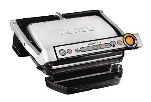 Tefal Optigrill GC712D12   Plancha de cocina (2000 W  7 modos de cocción  indicador del progreso  sensor de grosor  bandejas extraíbles y desmontables)