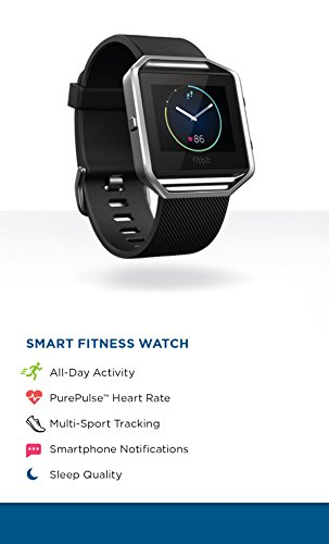 Fitbit Blaze Smart Activity Tracker and Fitness Watch with Wrist Based Heart Rate Monitor – Black/Large