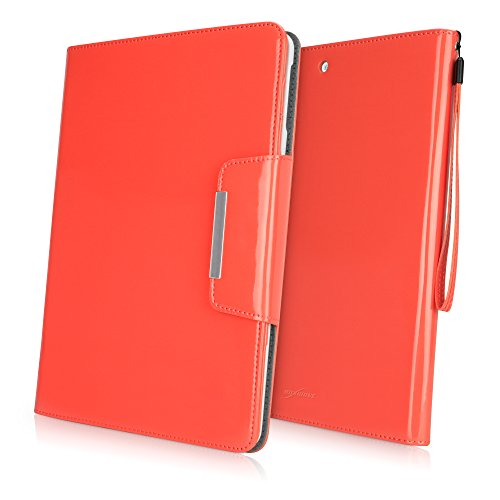 BoxWave Apple iPad Air Patent Leder Clutch Case - Premium Stylish Patent Vegan Leder Clutch Case für Das iPad Air (Coral) -