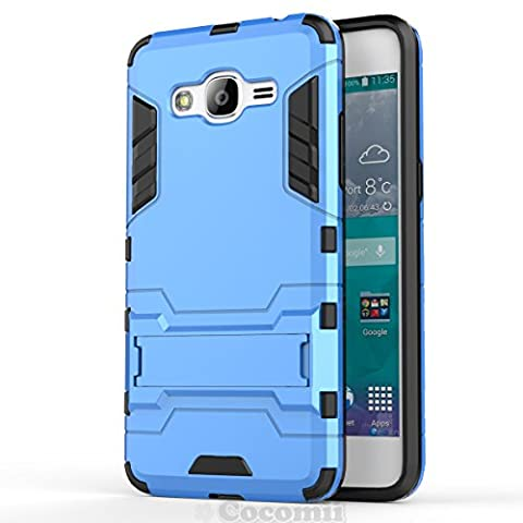 Galaxy J2 Prime Coque, Cocomii Iron Man Armor NEW [Heavy Duty] Premium Tactical Grip Kickstand Shockproof Hard Bumper Shell [Military Defender] Full Body Dual Layer Rugged Cover Case Étui Housse Samsung (Blue)